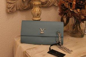Versace 19V69 ITALIA Clutch Leder hellblau- Cervo Jeans,kleine Mängel