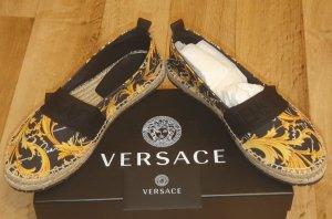 Versace Espadrille sandalen zwart-geel