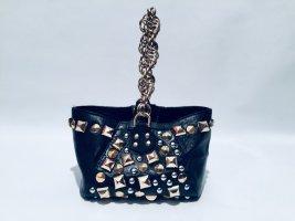 Versace for H&M Sac Beuteltasche schwarzes Leder mit Nieten
