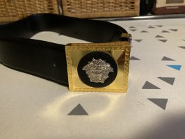 Gianni Versace Ceinture en cuir noir