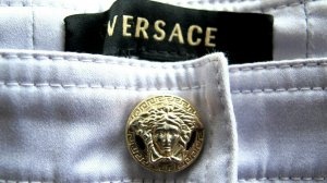 Versace Hose in hellem lila Gr. 34 / ital. Gr. 38 Top Zustand NP 460,-€ !