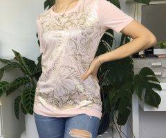 Versace Jeans Basic T-Shirt mit Metallic Print S/36 NP 100€