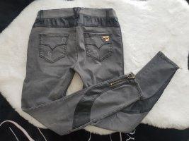 Versace Jeans Hose mit Leder Details