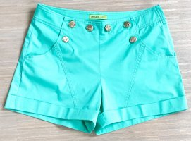 Versace Jeans Short taille haute turquoise