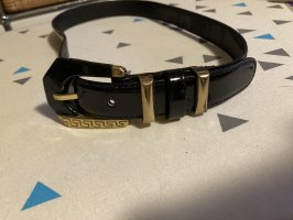Gianni Versace Leather Belt black-gold-colored