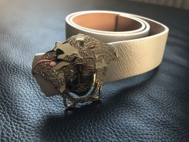 Versace Leather Belt gold-colored-natural white