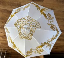 Versace Walking-Stick Umbrella white-gold-colored polyester