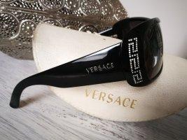 Versace Lunettes de soleil ovales noir