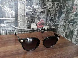 Versace Owalne okulary przeciwsłoneczne czarny-złoto