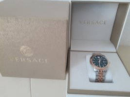 Versace Watch With Metal Strap forest green