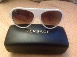 Versace weiß und Gold Sonnenbrille