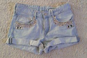 H&M Pantaloncino di jeans color carne-azzurro Cotone