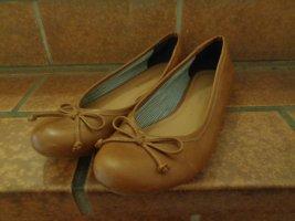 Via della Rosa Ballerines Mary Jane brun cuir