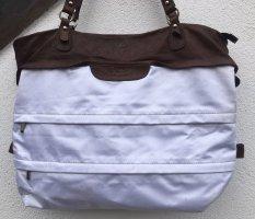 Via Milano Shopper white-dark brown