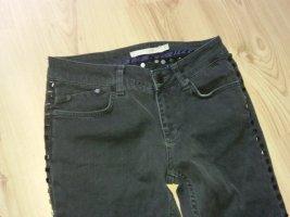 Victoria Beckham Jeans coupe-droite multicolore tissu mixte
