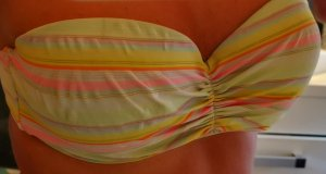 Victoria's Secret Bikini Oberteil VS 40/42 M gestreift trägerlos