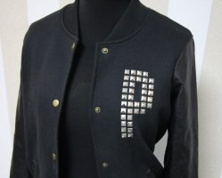 Pink Victoria's Secret College Jacket black-silver-colored
