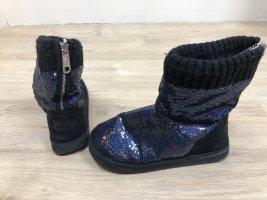 Victoria's Secret Glitzer Pailletten Boots Booties Stiefeletten Stiefel Gr 36