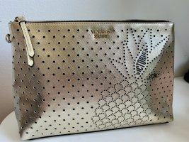 Victoria's Secret Kosmetiktasche Beauty Bag Clutch VS Gold Ananas Motiv