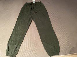 Pink Victoria's Secret Spodnie khaki zielono-szary Lyocell