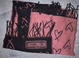 Victoria's Secret Gebreide sjaal zwart-roze