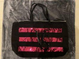 Pink Victoria's Secret Borsa shopper nero-rosa
