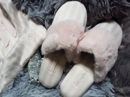 Victoria's Secret Slippers natural white-light pink