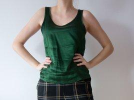 Victoria's Secret Silk Top dark green silk
