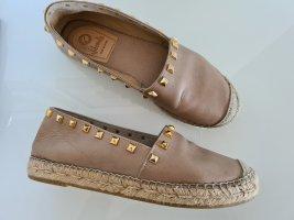 Vidorreta Espadrille sandalen goud-grijs-bruin Leer