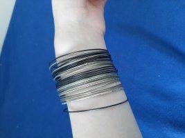 Six Ajorca negro-color plata