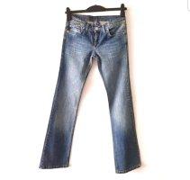 Victoria Beckham Jeans taille basse bleu acier