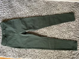 Vila Drainpipe Trousers dark green