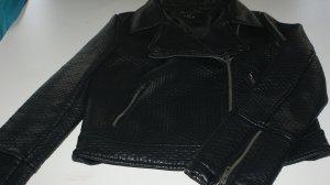 Vila Leren blazer zwart Imitatie leer