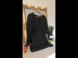 Vila Knitted Dress dark grey-grey