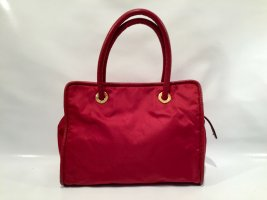 Vinbtage Celine Handtasche Nylon und Leder mit Gold-Details