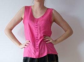 Vintage 100% Seide Seidentop Tanktop rosa pink Gr. M