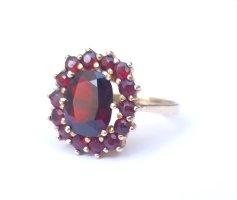 Vintage 333 Gold Ring Gr. 57/18,1 opulent mit Granatstein rot kein 585 750