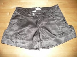 VINTAGE 55 Eyecatcher Satin Shorts Hot Pants dunkelbraun 36