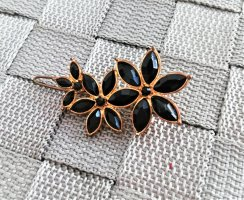 keine Hair Clip black-gold-colored