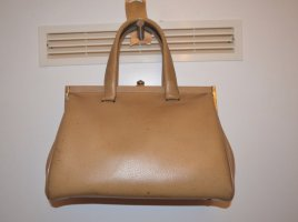 Vintage 60s Handtasche Groß Beige