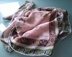 Christian Dior Jedwabny szal jasny różowy