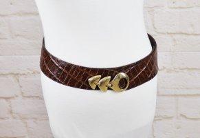 Vintage Cinturón de cadera multicolor Cuero