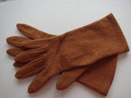 Vintage Guanto con dita ruggine Tessuto misto
