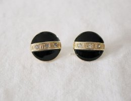 Vintage Earclip black-gold-colored