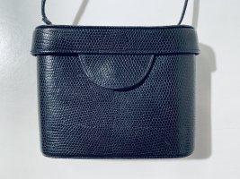 Vintage Abendtasche - Camera Bag - schwarzes Leder - crossbody