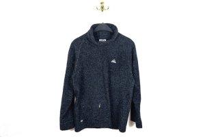 Vintage Adidas Rollkragen Fleece Pullover in Schwarz