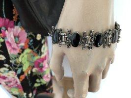 Vintage Armband schwarzen Steinen 80er