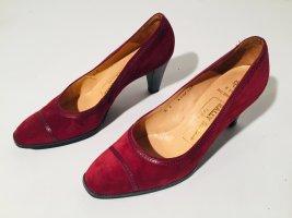 Bally Escarpins classiques  rouge foncé-noir cuir