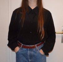 Vintage Bluse Black Oversized