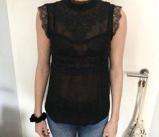 VINTAGE Bluse Spitzen Details Top Shirt S 36
